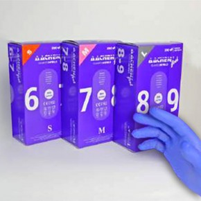 GUANTES NITRILO SIN POLVO AACHEN T.L 10-11cm.100uds.