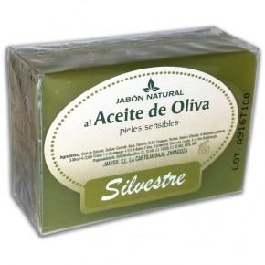 JABÓN NATURAL ACEITE DE OLIVA SILVESTRE, Pieles Sensibles 100g.
