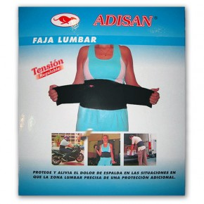 FAJA LUMBAR TENSION REGULABLE ADISAN, Talla XL