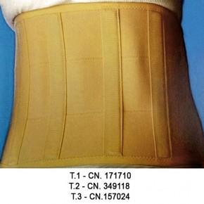 FAJA TERM SOPORTE LUMBAR-ESPINAL CON VELCRO T.1, CN.171710