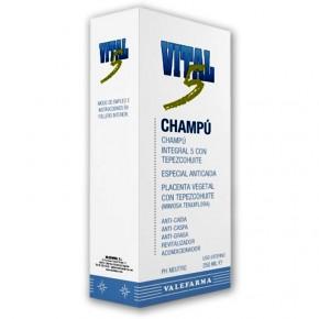 CHAMPÚ INTEGRAL VITAL-5 VALEFARMA, 250ml.