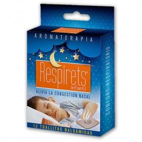 RESPIRETS INFANTIL, 12 TOALLITAS BALSÁMICAS, CN.152897.1