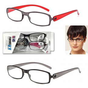 GAFAS LECTURA DOUBLE TWINS OPTICAL, 2 colores, +1:00 a +3:50