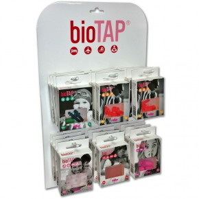 EXPOSITOR TAPONES PROTECTORES OÍDOS BIOTAP, KIT 24cajas
