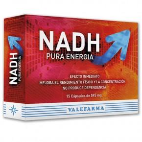 NADH PURA ENERGIA VALEFARMA, 15 Cáps. de 595mg.