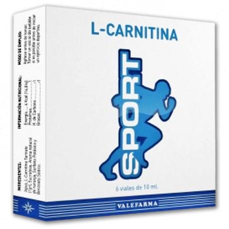 L-CARNITINA SPORT VALEFARMA, 6 viales de 10ml.