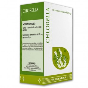 CHLORELLA DIGESTIVO VALEFARMA, 60 Comprimidos 850mg.
