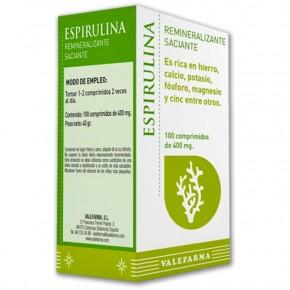 ESPIRULINA REMINERALIZANTE VALEFARMA, 100 Comp. 400mg.