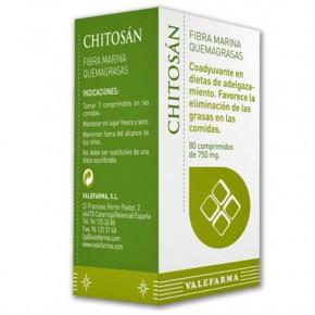 CHITOSAN QUEMAGRASAS VALEFARMA, 80 Comp. 750mg.