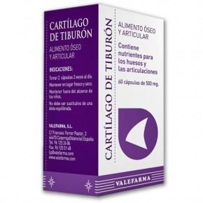 CARTILAGO DE TIBURÓN ÓSEO-ARTIC. VALEFARMA 60 Cáps. 500mg.