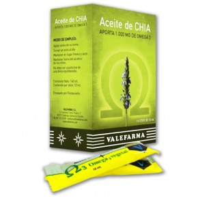 ACEITE DE CHIA 1000mg. OMEGA 3, 14 Sticks 10ml.