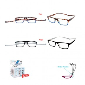 GAFAS LECTURA MAGNETIC TWINS OPT.PLATINUM, 2col. +1.0a+3.5