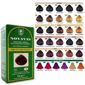 TINTE CABELLO CON EXTRACTOS VEGETALES NOVAVIS, 30 Colores 135ml