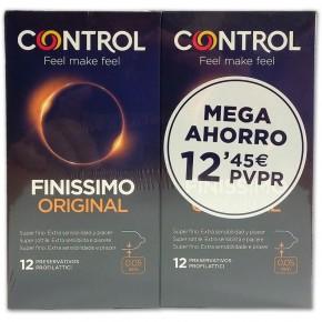 PROFILÁCTICOS CONTROL FINISSIMO ORIGINAL, 12+12 MEGA AHORRO