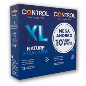 PROFILÁCTICOS CONTROL NATURE XL, PACK 12+12 MEGA AHORRO
