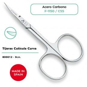 TIJERAS CUTÍCULA CURVA AC.CARBONO 9cm.3CLAV.CN167155.4