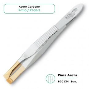 PINZA ANCHA AC.CARBONO 8cm. 3CLAVELES CN.150383.1