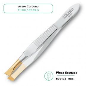 PINZA SESGADA AC.CARBONO 8cm. 3CLAV. CN.151696.1