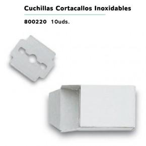 CUCHILLAS CORTACALLOS INOX.10uds.3CLAV.CN.158147.1