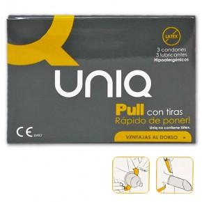 PROFILÁCTICOS 3 UNIQ PULL TIRAS NO LÁTEX CN.181388.6
