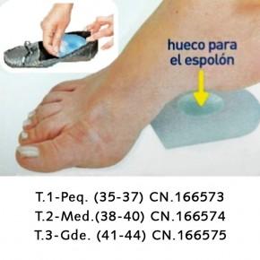 TALONERAS DE SILICONA SILIPAX T2, 2uds.
