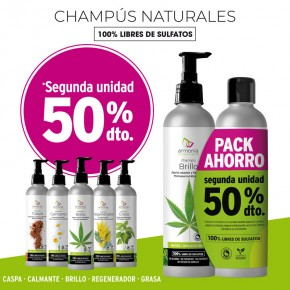 CHAMPÚS NATURALES ARMONÍA, PACK AHORRO 2ªud. 50%